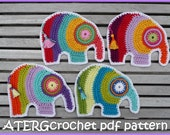Crochet pdf pattern elephant by ATERGcrochet