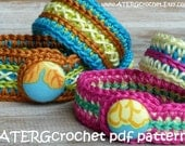 Crochet pdf pattern TWO BRACELETS by ATERGcrochet