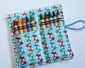 Little Foxes Woodland Animals, Crayon Rolls Birthday Party Favors, Little Foxes Crayon Holder holds 10 Crayons