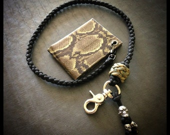 Paracord skull wallet chain for How to make a paracord wallet chain