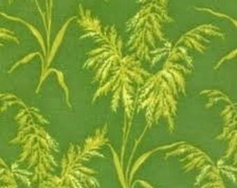Sunflower Sunrise Ferns by Fabri, Quilt Inc, Green Fabric, Floral Fabric, Fern Fabric, 1 yard of fabric
