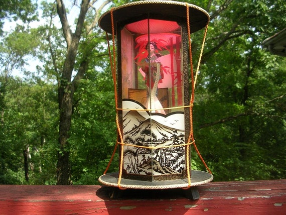 Vintage Geisha Lamp Night Light Made In Japan