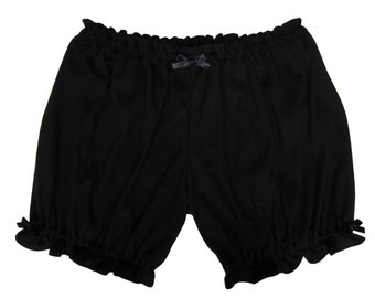 Womens Bloomers Black w/ Bows Sizes XS-2X