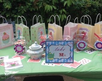 Alice's Tea Party Printable Signs - Drink Me, Eat Me, Take Me - Alice In Wonderland - DIY Printable Party