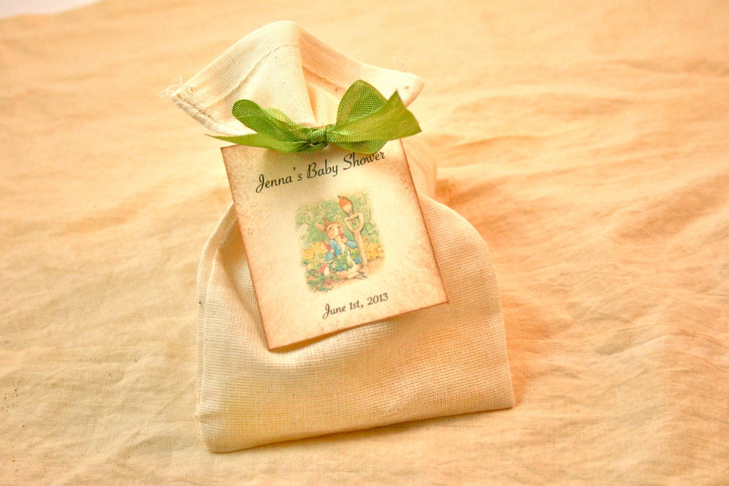 Baby Shower Favors Flowers ~ Vintage baby shower favor flower seed packet by