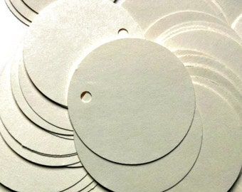 Circle Tag 100 Cream 1.5 inch