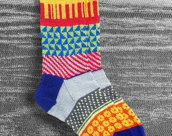 Socks, Hand Knit Socks, Unique, Womens Handknit Socks, Mens Wool Socks, Teen Sox, Boho Sox, Icelandic Design, Hipster Socks, Made To Order