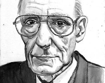 William S Burroughs print 5x7