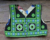 Vintage Miao Hmong folk art embroidered textile,Tribal Embroided Folk Art shirt/Hmong Jacket