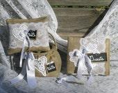 Flower Girl Basket, Ring Bearer Pillow, Guest Book Set