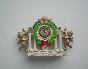 1:12th Cherub Mantle Clock for the Dolls House