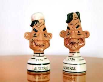 Alcatraz Salt and Pepper Shakers