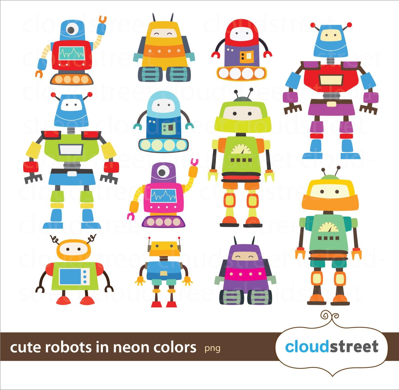cute robot clipart - photo #49