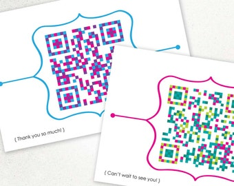 Set of 4 QR CODE CARDS