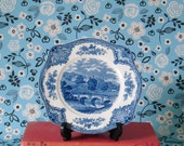 RESERVED Vintage - Old Briatin Castles Series English Blue Transferware Plate by Johnson Bros