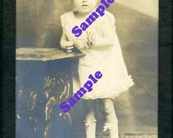 Instant Digital Download-Precious Patsy-vintage Studio portrait of toddler