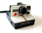 Vintage 70s rainbow striped POLAROID Land instant Camera retro instagram iconic white