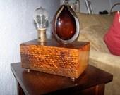 Hand Made Lamp using reclaimed 1890's vintage wood. NFS Custom Order