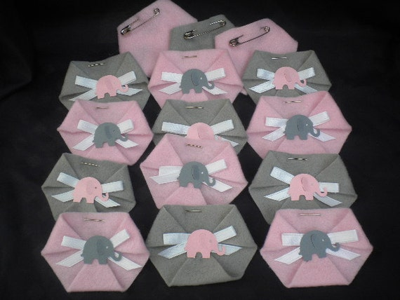 48 pc dirty diaper game baby shower elephant theme boy girl for Baby shower diaper decoration game