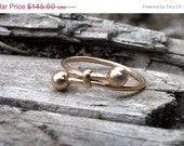 SALE Vintage 14k Love Knot Bypass Ring