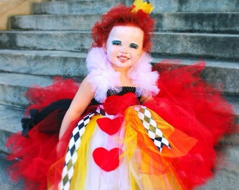 Queen of Hearts Inspired Tutu Dress