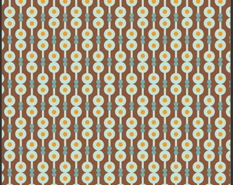 Art Gallery Fabric by Patricia Bravo-Summerlove Collection-Retro Harmony Cocoa-Choose Your Cut 1/2 or Full Yard