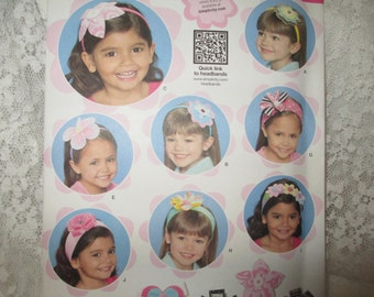 Simplicity 1820 Hair Accessories. Factory folded, new, uncut pattern.