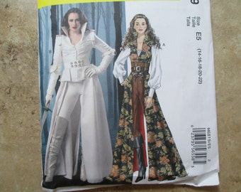 MCalls 6819 Warrior Princess Costume Pattern Fabulous Flirty and Fitted Sizes 14-22