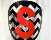 Chevron Initial Tumbler Cup. Great gift idea.