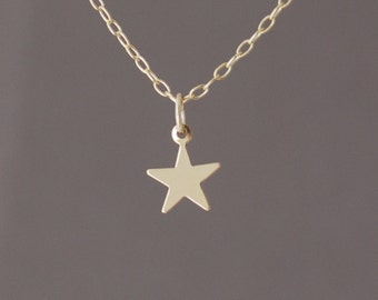 Tiny Gold Fill Star Necklace