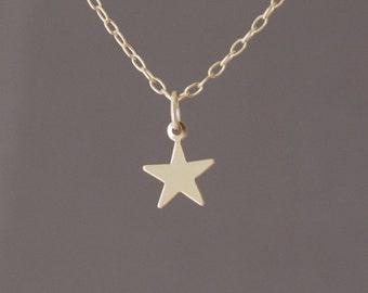 Tiny Gold Fill Star Necklace