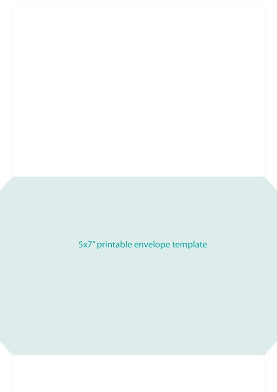 Printable 5X7 Envelope Template That Fits On An A4 Page Instant