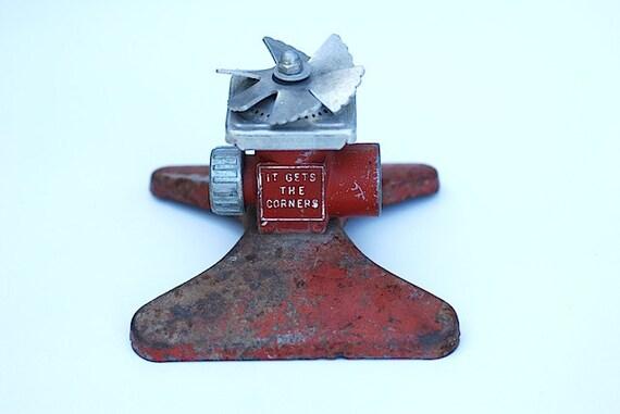 Antique Metal Sprinkler -  Vintage Lawn Supplies, Gift For Gardner, Mid Century Garden Supplies,  Home Decor, Gift For DAD, Industrial,