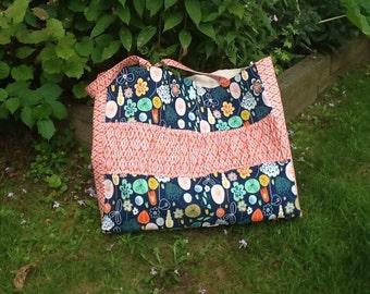 Extra large ruffle beach/pool bag