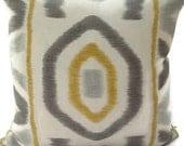 Thom Filicia for Kravet-Ikat 20X20 Pillow Cover Designer Home Decor Fabric-Throw Pillow-Accent Pillow-Living Room Pillow-Toss Pillow