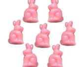 100 Pink Bunny Beads