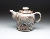grey  brown glazed  pottery stoneware teapot