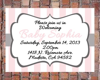 Girl Baby Shower Invitation