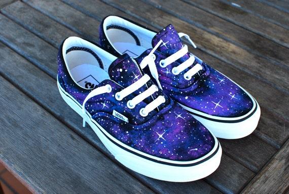 Custom Galaxy Vans Era shoes by BStreetShoes on Etsy