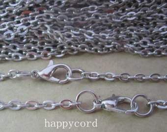 "20pcs  70cm  White K""0"" shape  Link  chain 3mmx4mm"