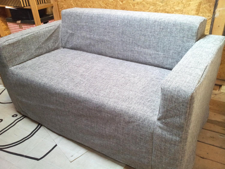 Funda para sof klobo de ikea tela de algod n de tapicer a - Telas tapiceria sofas ...