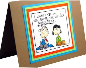 Im sorry card,  Apology Card, Funny Apology, Charlie Brown