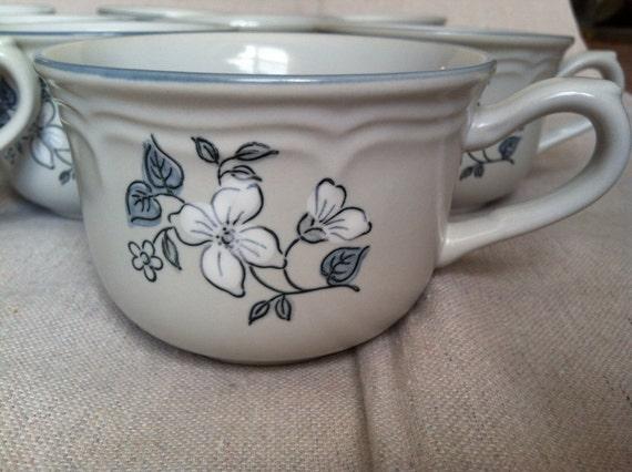 Vintage The Covington Edition Avondale Stoneware Teacups- Set of 10