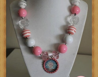 Pink Phillies Chunky Necklace