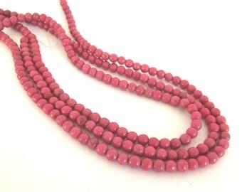"""Pink Magnesite Beads, 6mm Round - 16"""" Strand"""