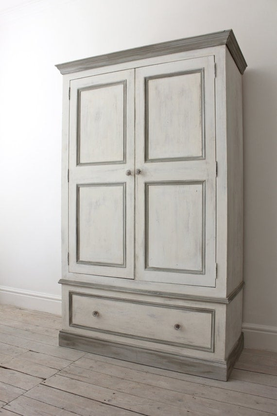 Items Similar To Double Pine Wardrobe Painted In A Shabby