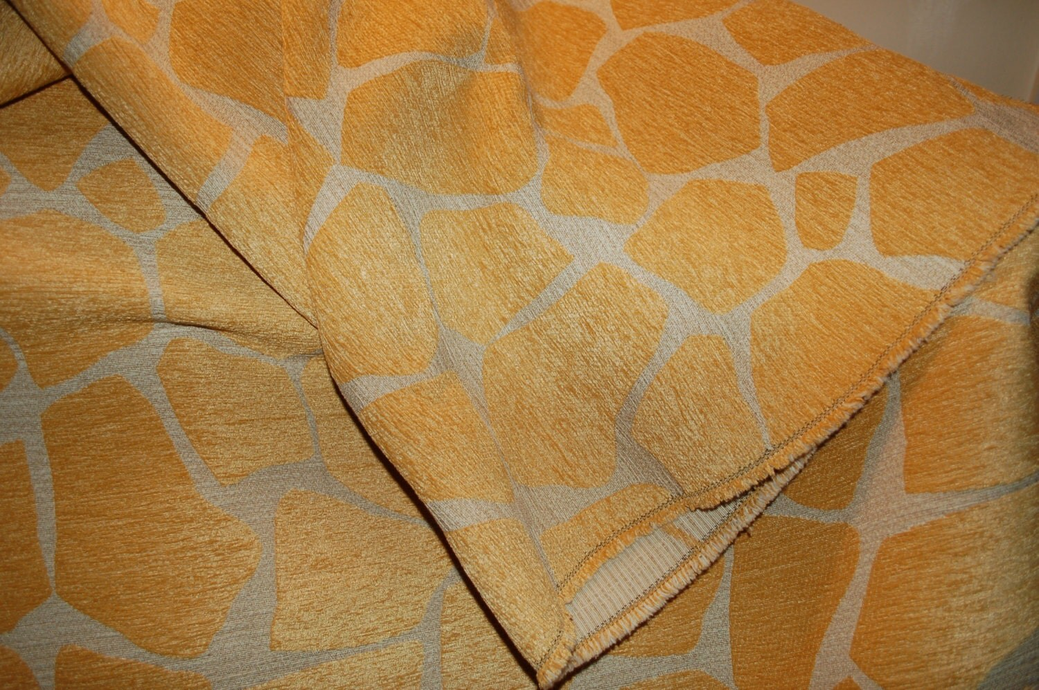 Giraffe Oro Animal Print Upholstery Fabric By Pinktique On Etsy