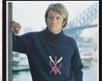 Villawool Men's Knitting Pattern Book No 190 Vintage 1970s