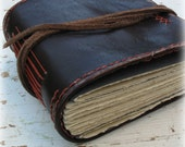 The Traveler -- Rustic leather journal, guest book. One of a Kind. OOAK - MoonAndHare