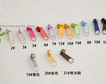Alloy Zipper, #3 Zipper Accessories, 4Pcs Pulls - Zipper DIY (T52B)